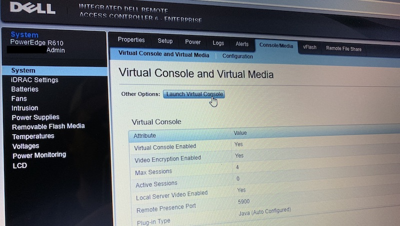Launching a Dell R610's iDRAC 6 Virtual Console with Java 8